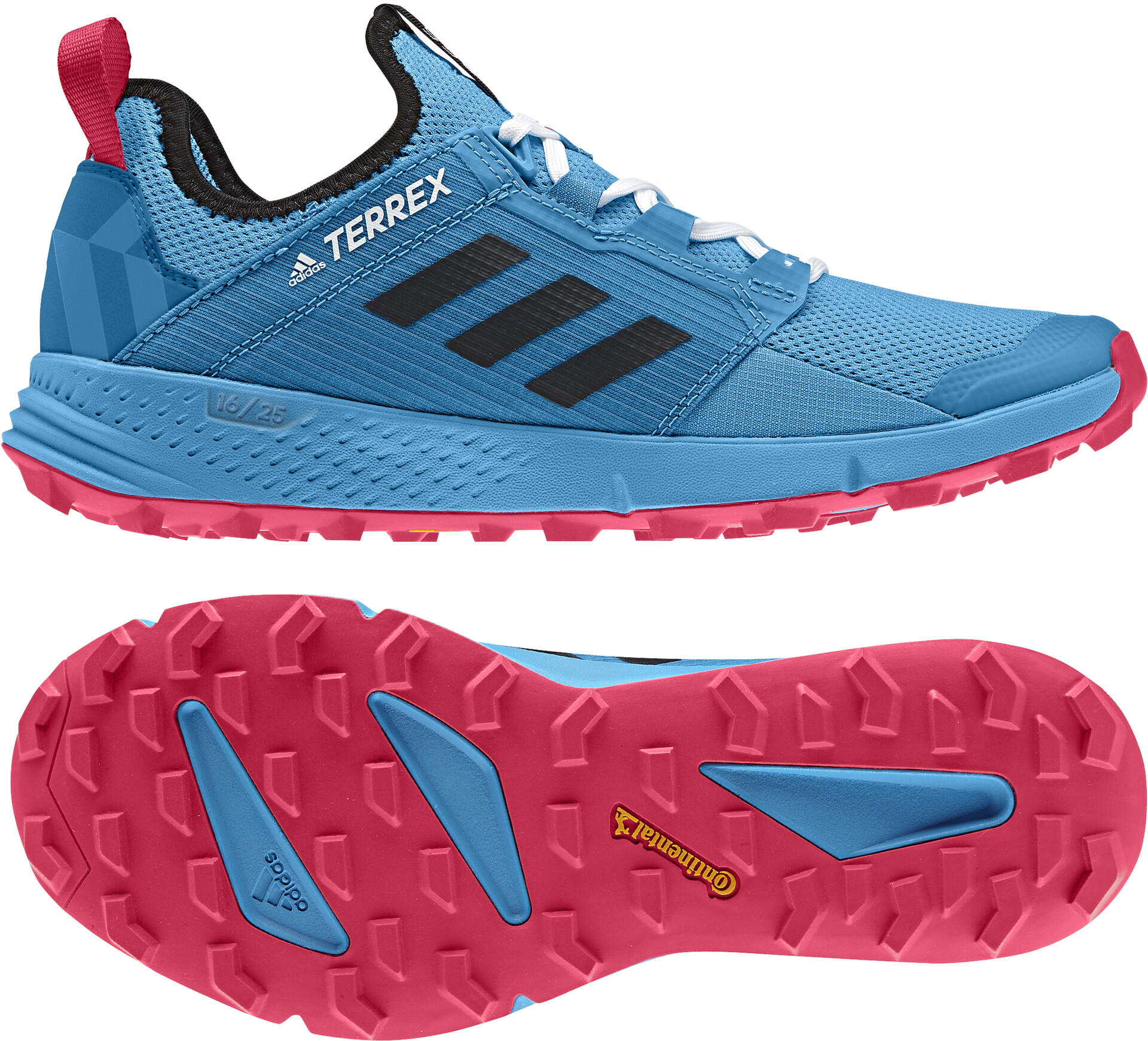 adidas TERREX Agravic Speed+ Shoes Dame shock cyancore blackactive pink